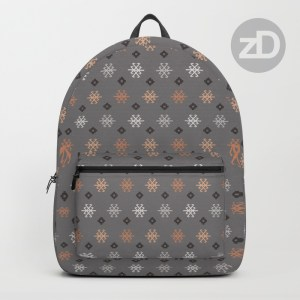 Zirkus Design | Boho Baby // Middle Eastern Metallic Pattern Collection Inspired by Turkish Kilim: Scorpion Secondary Print (Backpack Available Through Society6)