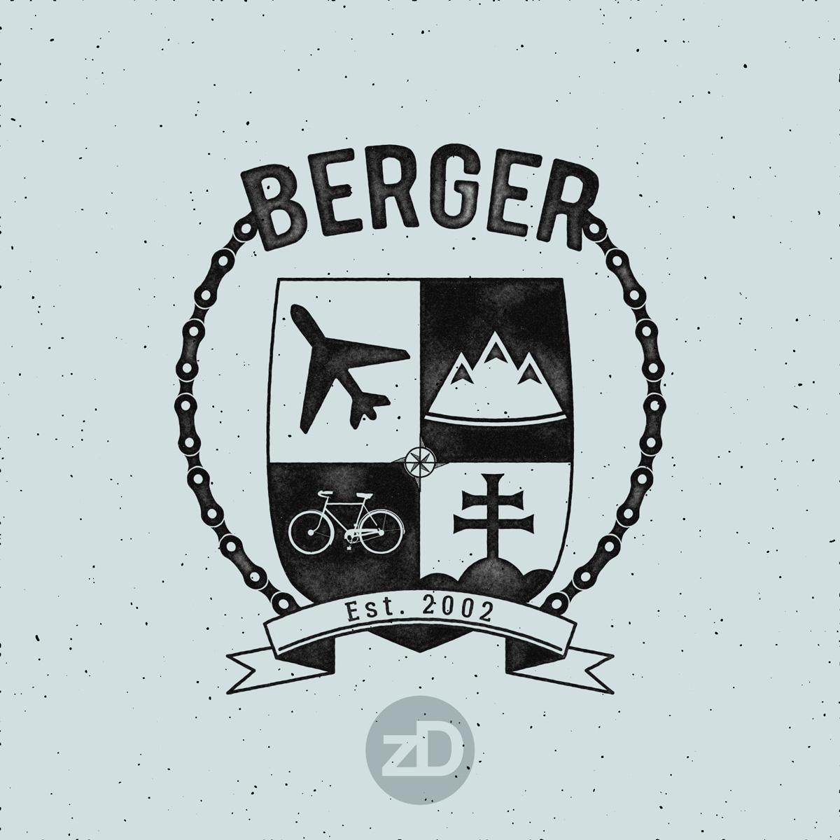 Zirkus Design | Modern Family Crest Design + Inspiration : Stamped Dry Ink Look