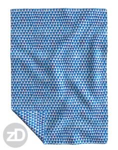Zirkus Design   Indigo Vibes Summer Watercolor Surface Pattern Design Collection : Indigo Blue Upside Down Triangle Roostery Blanket Mockup