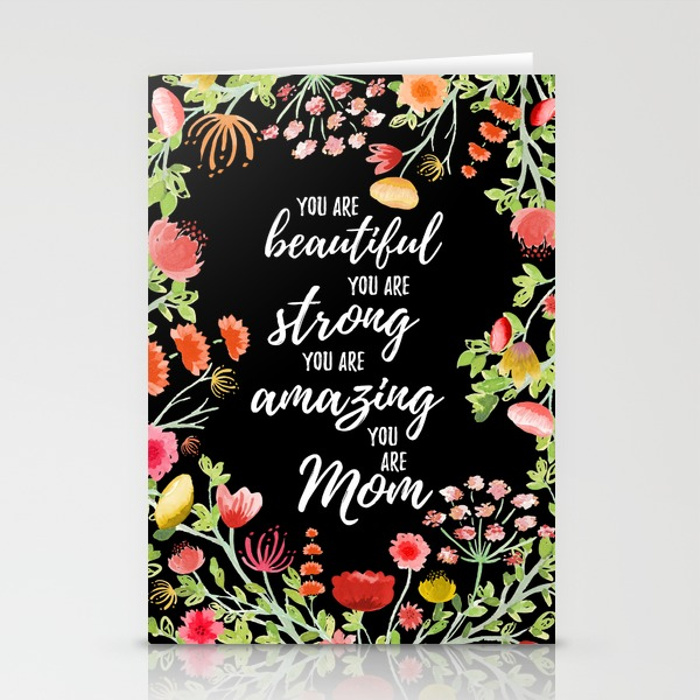 Zirkus Design | Hand Painted Elegant Watercolor Mother's Day Greeting Card (empowering message stationery mockup)