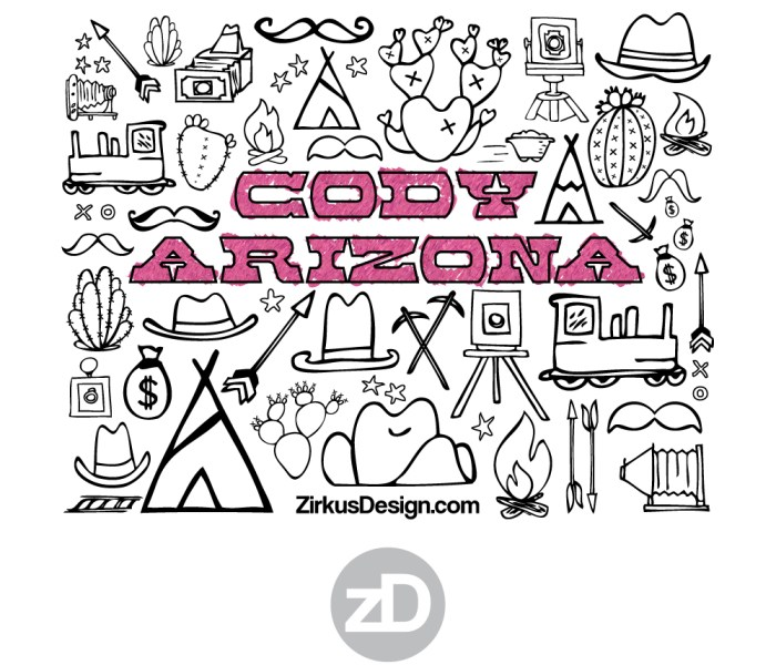 FREE Wild West Printable – Cody Arizona Coloring Sheet