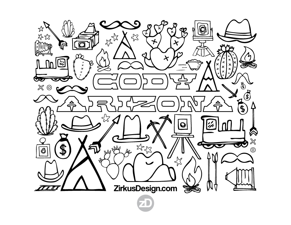 Zirkus Design | Cody Arizona Wild West Pattern Collection : free printable wild west coloring sheet
