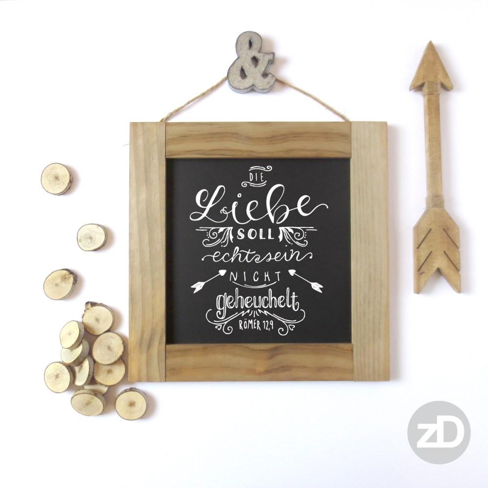 Zirkus Design | Hand Lettering: Die Liebe Soll Echt Sein Mockup