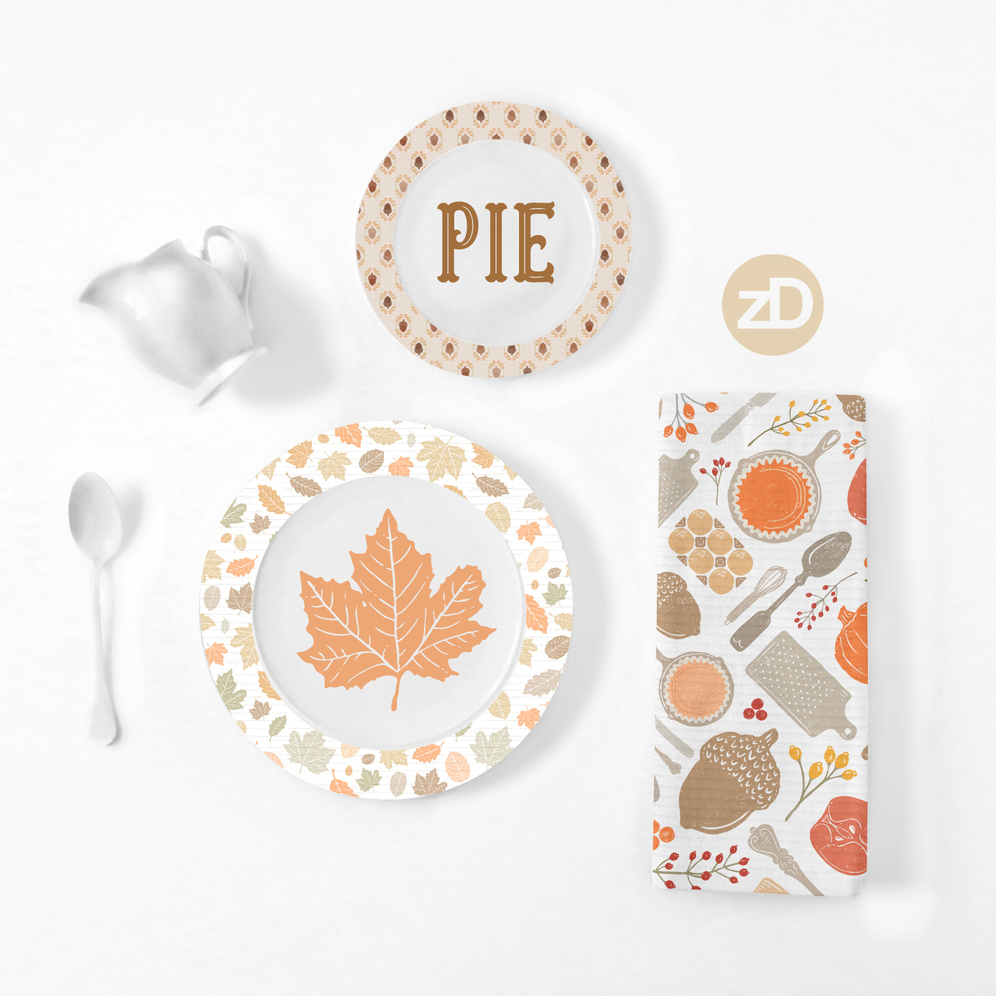 Zirkus Design | Sing for Your Supper: Autumn Edition // Surface Pattern Design Collection Home Decor Mockup