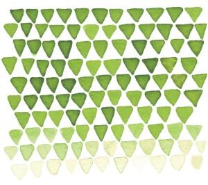 Zirkus Design   Indigo Vibes Summer Watercolor Surface Pattern Design Collection : Indigo Upside Down Triangles - Mountains, Feminine