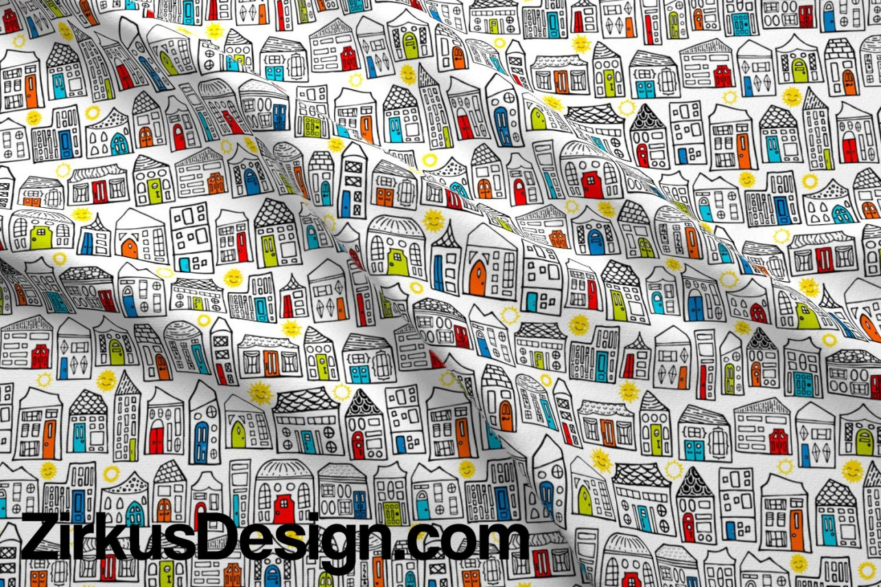 Zirkus Design | Happy City Pattern Collection - Welcome Home! - Daytime Version n Gender Neutral Colors