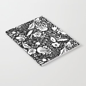 Zirkus Design | Funky Vintage Floral Collection: A Groovy Retro Feel in Salmon, Apricot, Navy, and Olive (Notebook Mockup)