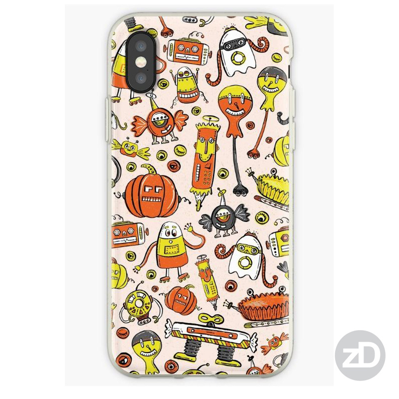 Zirkus Design | Halloween Candy Robots Collection - Three Color Phone Mockup