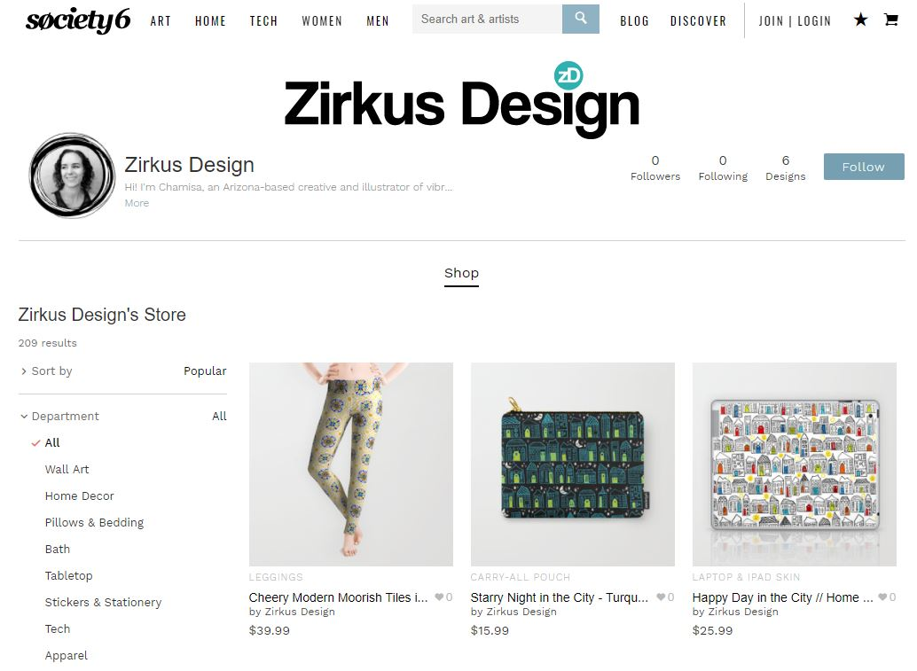 Zirkus Design | Society6 Shop Grand Opening! Playful Prints Available on a Variety of Products Just for YOU!