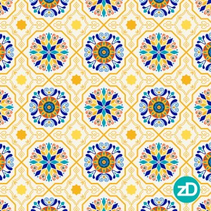 Zirkus Design | Cheery Modern Moorish Tiles Fabric Design - Spoonflower Challenge Final Color Palette