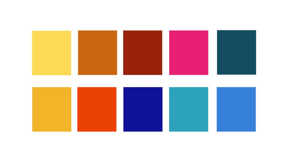 Zirkus Design | Cheery Modern Moorish Tiles Fabric Design - Bold Color Palette