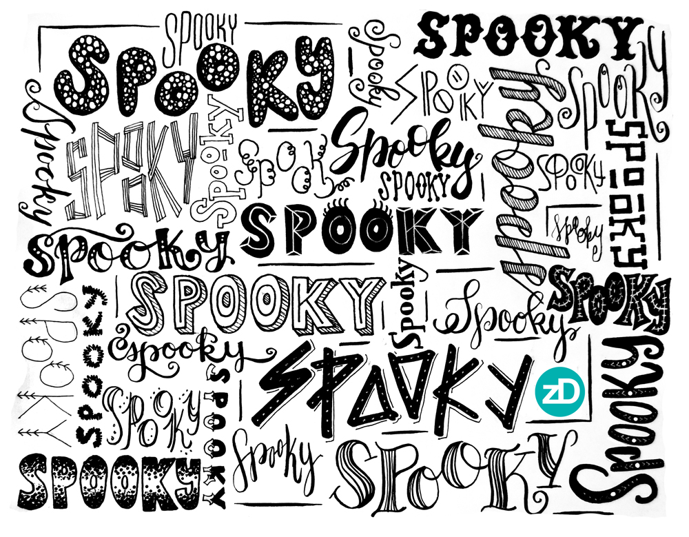 Zirkus Design | Spooky! 31 Hand Lettering Styles to Try - Sketch