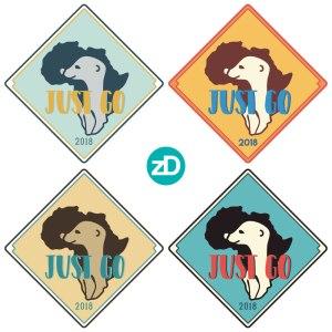 Zirkus Design   Stick 'Em Up: Sticker Design for a Good Cause - Africa Missions Trip Meerkat Stickers - Retro Palettes