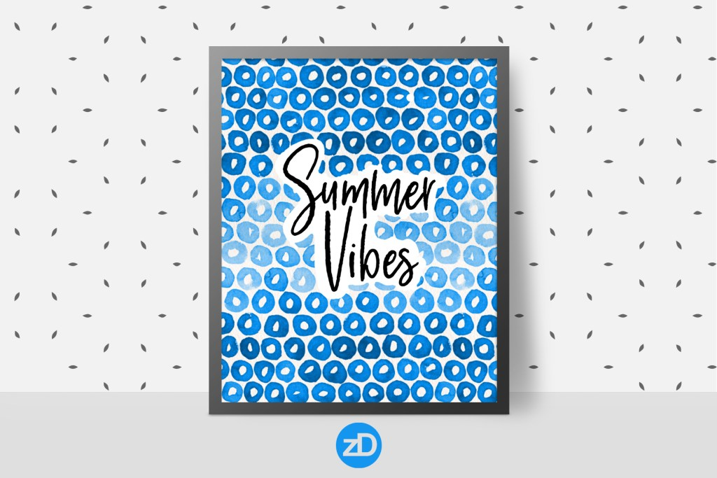 Zirkus Design | Indigo Vibes Watercolor Pattern Design Collection FREEBIES + Shutterstock Link