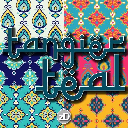Zirkus Design | Surface Pattern Design Mini Ikat Collection : Tangier Teal