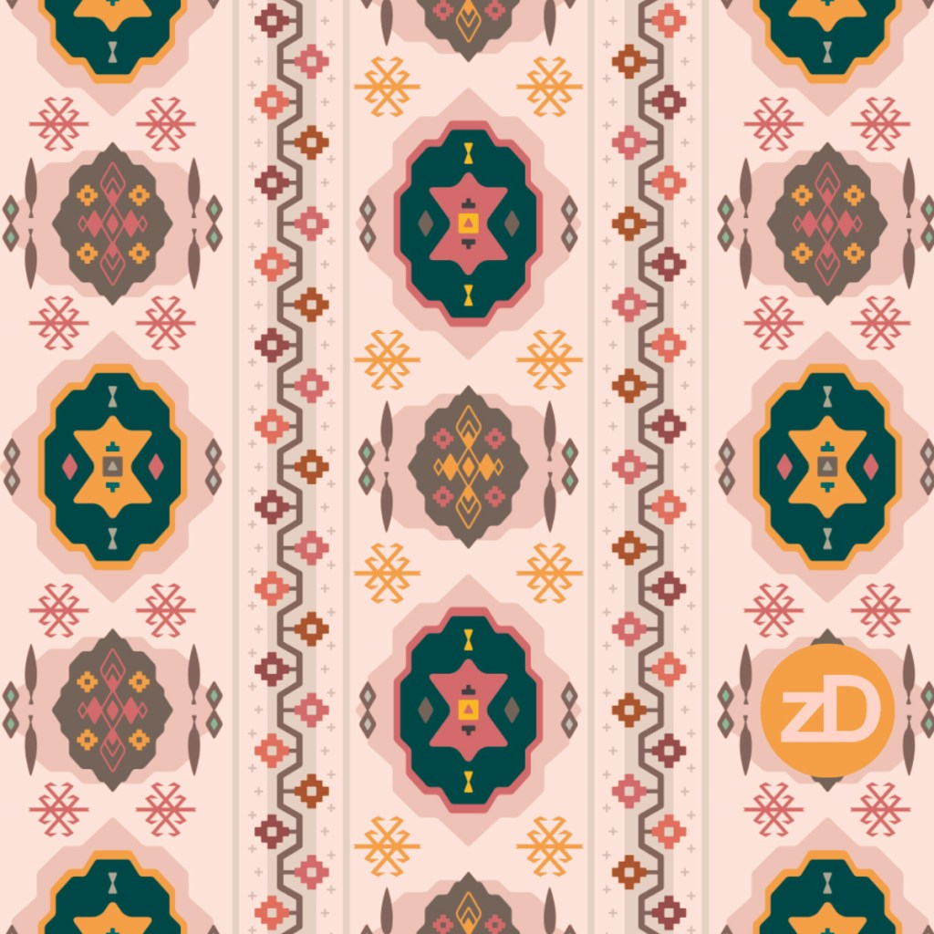 Zirkus Design | Boho Baby // Middle Eastern Metallic Pattern Collection Inspired by Turkish Kilim: Original Spoonflower Color Palette
