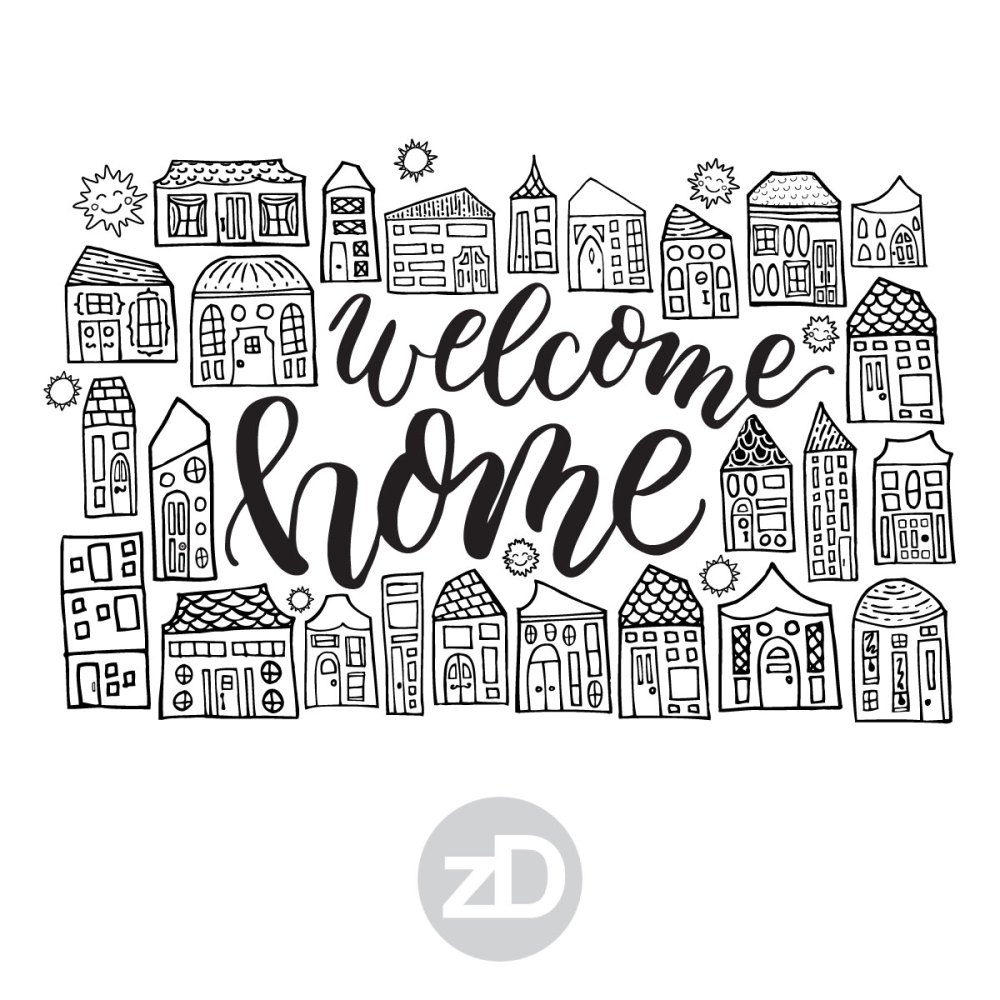 Zirkus Design | Happy City Pattern FREEBIE: Printable Welcome Home Greeting Cards in Letter and A4