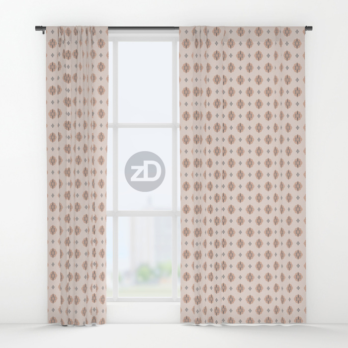 Zirkus Design | Boho Baby // Middle Eastern Metallic Pattern Collection Inspired by Turkish Kilim: Cypress Secondary Print (Curtains Available Through Society6)