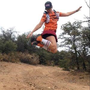 Hallie Marathon Runner Jumping