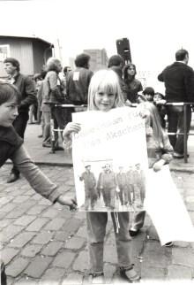 Demo gegen die Schließung der AG Weser 1983 (© ZIS)