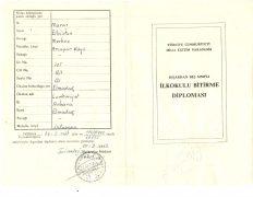 Grundschulzeugnis 1960, Ahmet Terkivatan (© privat)