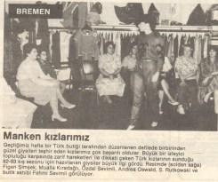 Erster Türkische Modenschau, 1979 (© Bremer Tageszeitung)