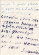 Brief von Hayriye Tekek an ihre Kinder in der Türkei 1971 (© privat)