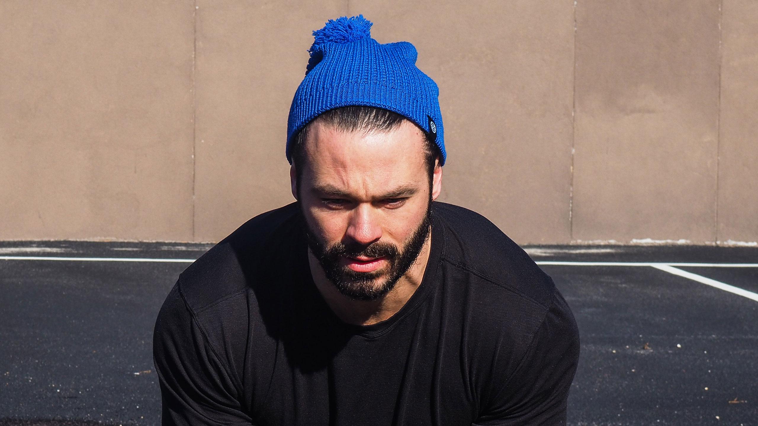 men's wool hat - blue