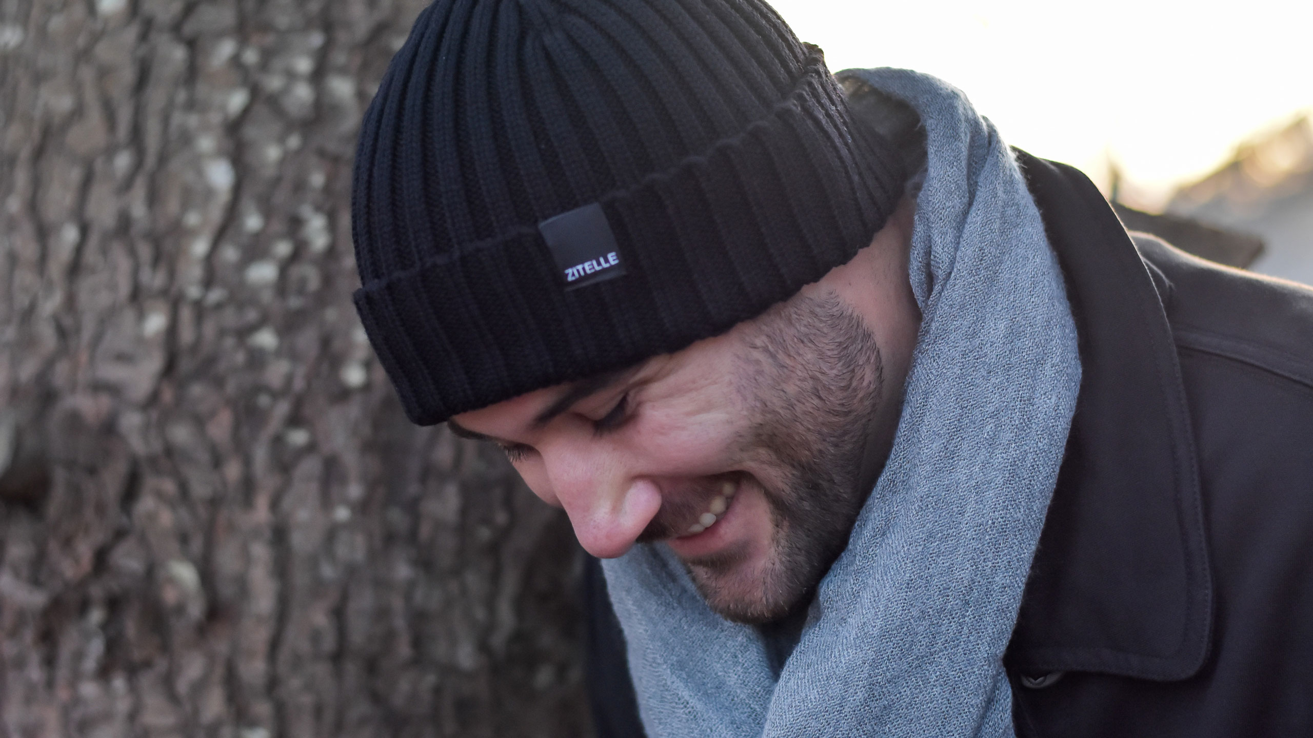 men's wool hat - black