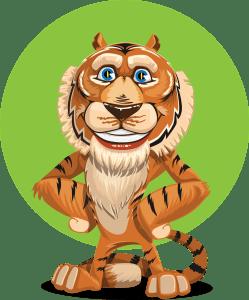 přijetí, spokojený tygr