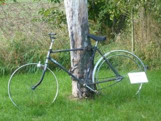 Ein einsames Fahrrad