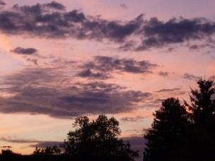 So sah der Himmel gestern Abend aus.
