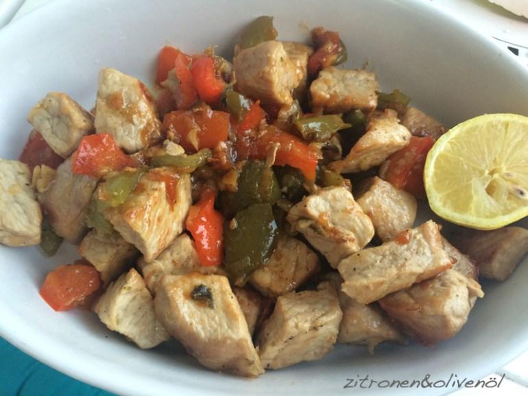 Tigania - Griechische Fleischpfanne mit Papirka