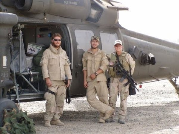 Danny Dietz (in the middle) along with other seal buddies