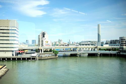 東京單軌電車上沿途的風景