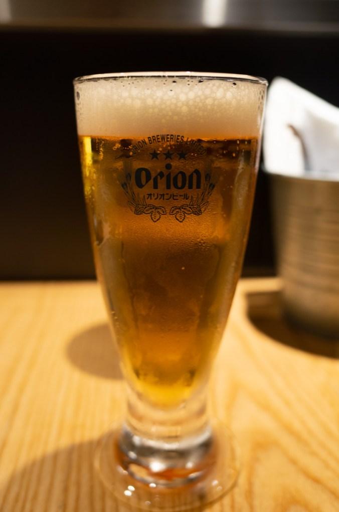 鳥人拉麵,吃拉麵配啤酒阿!沖繩Orion的生啤酒好好喝~