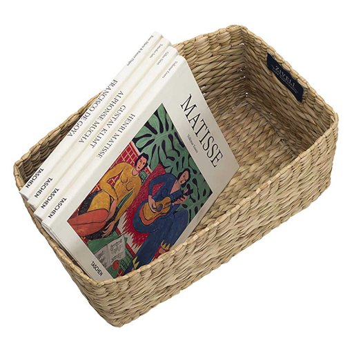 handcrafted kauna read magazine basket