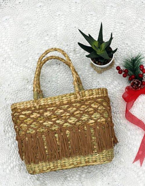 Noelle handmade Kauna Reed tote bag