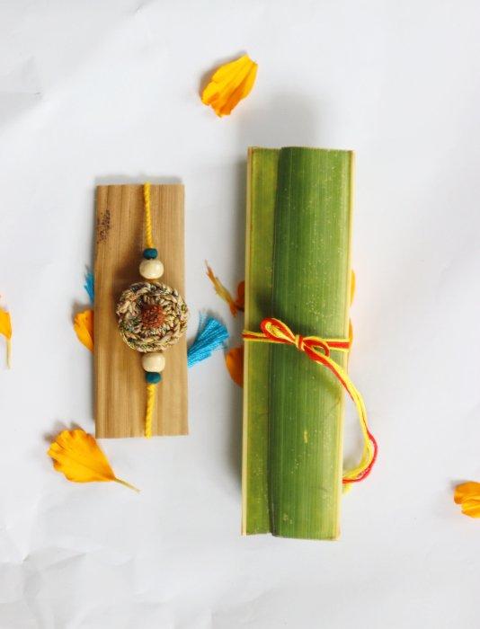 handmade banana fibre rakhi