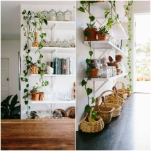Rustic-Bohemian-Family-Home-Subway-Tiles-White-Kitchen-Indoor-Plants-Shelves