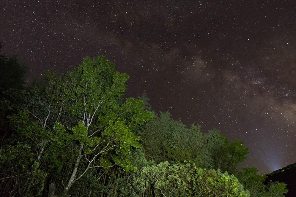 Mléčná dráha v horách Taiwan