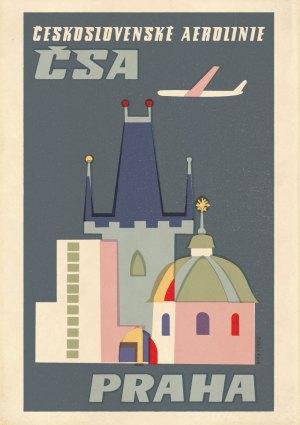 Zizkov Park CSA Prague poster