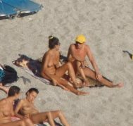 People at nude beach