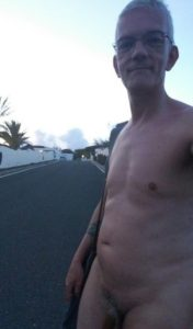 nude in the street