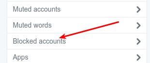 blocked accounts