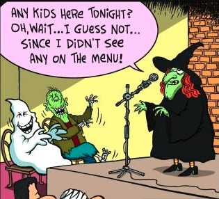 witch and children menu