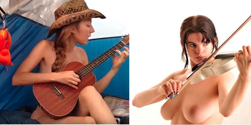 nude musicians