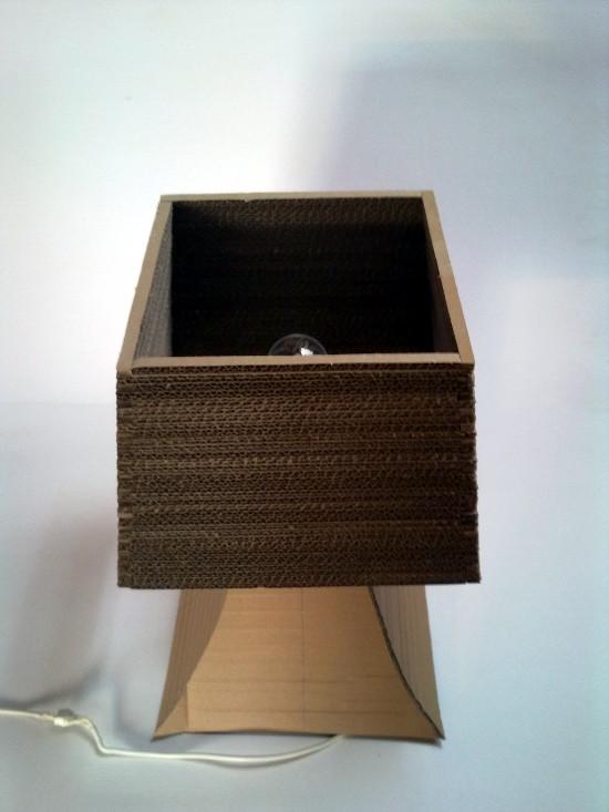 lampa-biurko-3 - z tektury, z kartonu