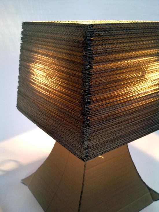 lampa-biurko-6 - z tektury, z kartonu