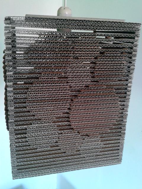 Lampa z kartonu - kolka 3d - 5
